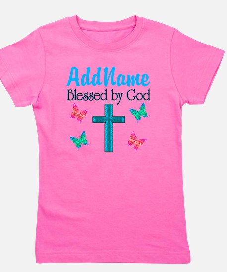BLESSED BY GOD Girl's Tee