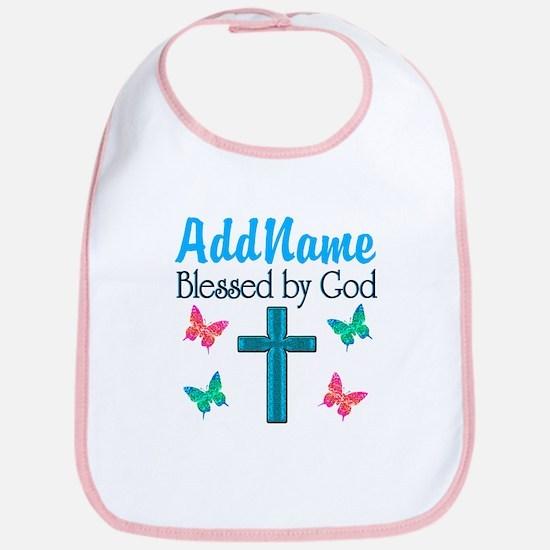 BLESSED BY GOD Bib