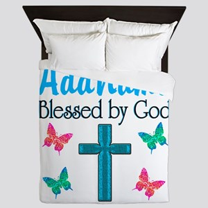 BLESSED BY GOD Queen Duvet