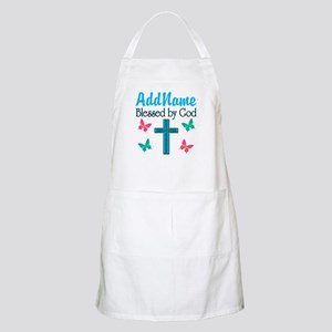 BLESSED BY GOD Apron