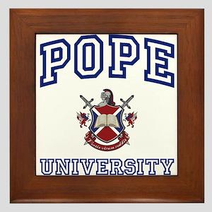 POPE University Framed Tile