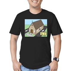 Church Drive-Thru Men's Fitted T-Shirt (dark)