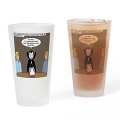 Dracula on Search Committee Drinking Glass