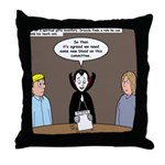 Dracula on Search Committee Throw Pillow