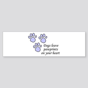 Blue dogs leave pawprints on your heart Sticker (B