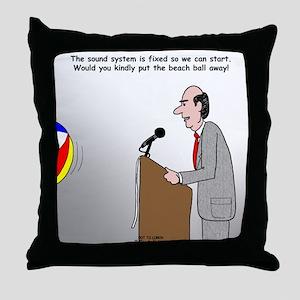 Sound System Delay Throw Pillow