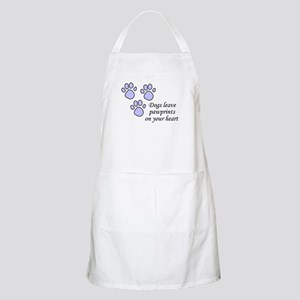 Blue dogs leave pawprints on your heart BBQ Apron