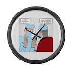 Choir Robe Scrubs Large Wall Clock