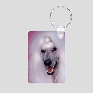 Poodle slider Aluminum Photo Keychain