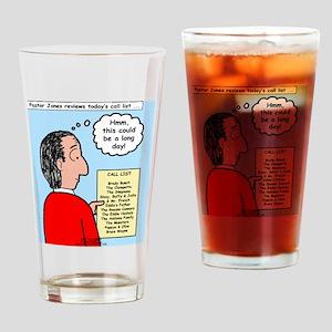 Pastor Call List Drinking Glass