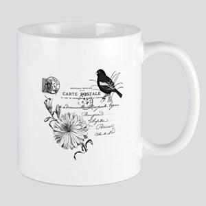 Flower & Bird Carte Postale Mug
