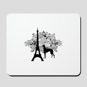 Eiffel Tower & Greyhound Dog Mousepad