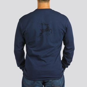 REINDEER Long Sleeve Dark T-Shirt