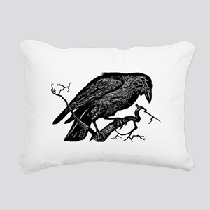 Vintage Raven in Tree Illustration Rectangular Can