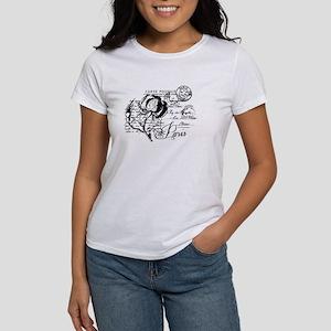 Paris Rose Carte Postale Women's T-Shirt