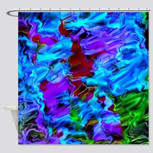 color vision, blue Shower Curtain