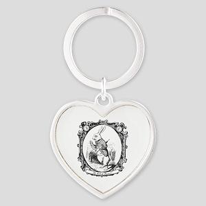 The White Rabbit Heart Keychain