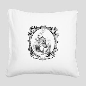 The White Rabbit Square Canvas Pillow