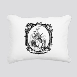 The White Rabbit Rectangular Canvas Pillow