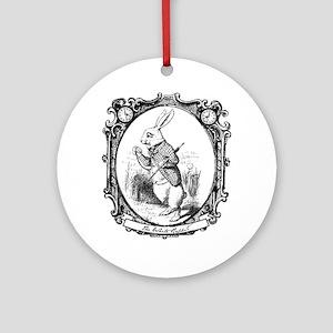 The White Rabbit Ornament (Round)
