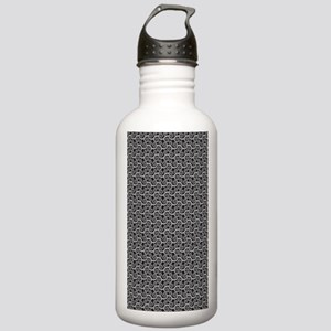 Black and Gray Swirls Stainless Water Bottle 1.0L