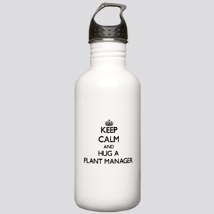 Keep Calm and Hug a Plant Manager Water Bottle