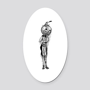 Jack Pumpkinhead Oval Car Magnet