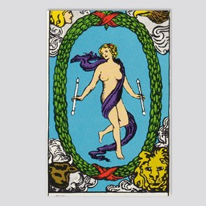 THE WORLD TAROT CARD Postcards (Package of 8)