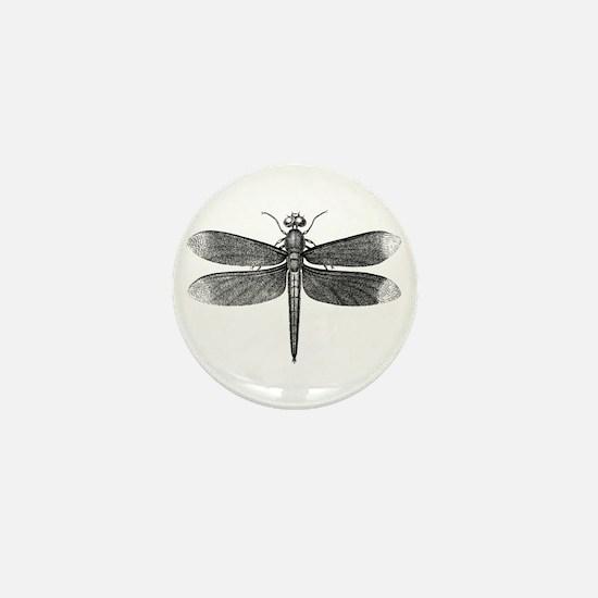 Vintage Dragonfly Mini Button