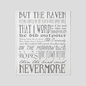 Raven Nevermore Throw Blanket