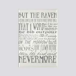 Raven Nevermore Rectangle Magnet