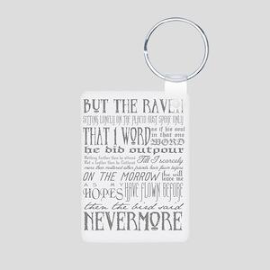 Raven Nevermore Aluminum Photo Keychain