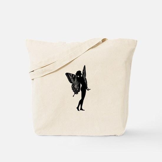 Vintage Fairy Silhouette Tote Bag