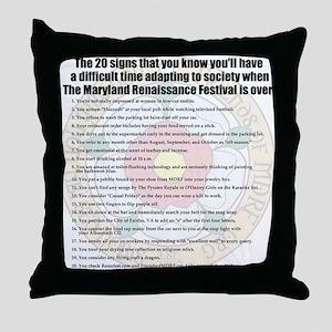 2012 Tshirt Back Throw Pillow