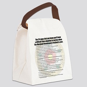 2012 Tshirt Back Canvas Lunch Bag