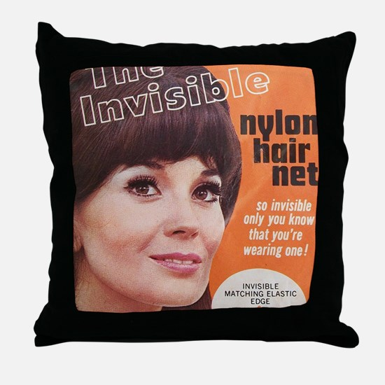 invisiblehairnet Throw Pillow