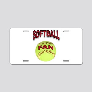 SOFTBALL FAN Aluminum License Plate