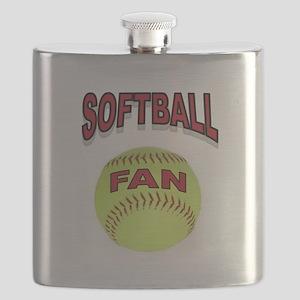 SOFTBALL FAN Flask