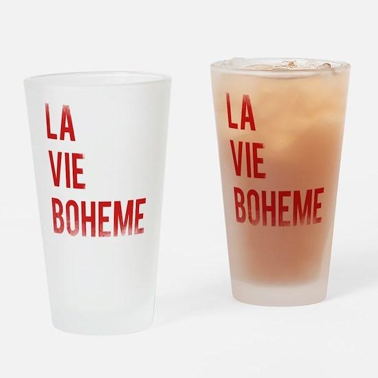 La Vie Boheme Drinking Glass