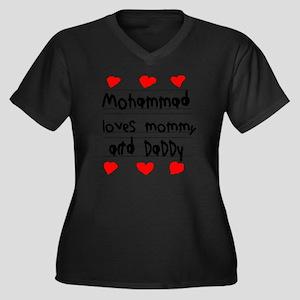 Mohammad Lov Women's Plus Size Dark V-Neck T-Shirt