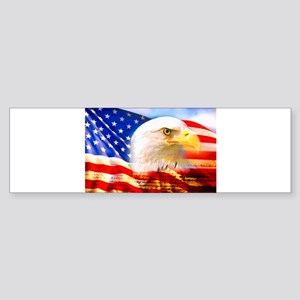 American Bald Eagle Collage Bumper Sticker