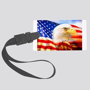 American Bald Eagle Collage Luggage Tag