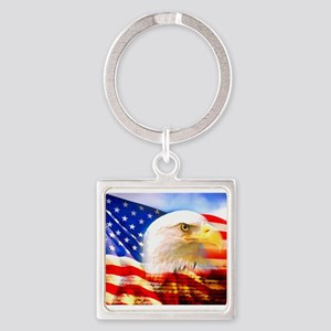 American Bald Eagle Collage Keychains