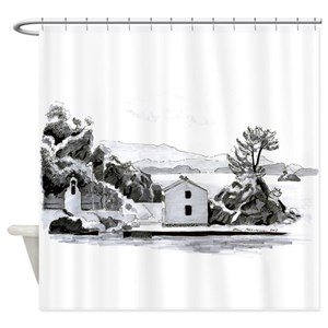 Greek Islands Shower Curtains