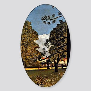 Rousseau: View of Parc de Monsouris Sticker (Oval)