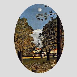 Rousseau: View of Parc de Monsouris Oval Ornament