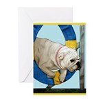 Bulldog Agility Design Greeting Cards (Pk of 10)