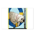 Bulldog Agility Design Postcards (Package of 8)