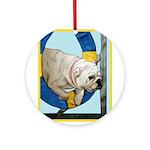 Bulldog Agility Design Ornament (Round)