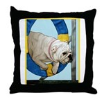 Bulldog Agility Design Throw Pillow